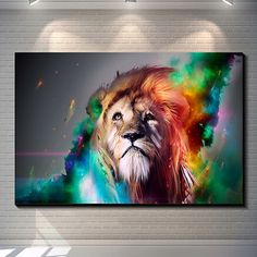 Unframed Lion Painting Abstract Art Print Canvas Poster Home Wall Decor 60*40cm