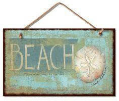 Beach Sand Dollar Wood Wall Sign ~~~