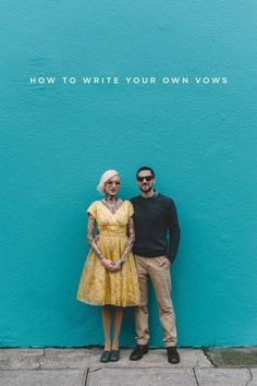 Writing your own wedding vows has got to be one of the best ways to add a personal spin to your day. Forget the DIY and quirky reception décor, the ceremony is really where it's at! Before you put pen Wedding Ceremony Readings, Wedding Vows, Wedding Shit, Wedding Bells, Wedding Stuff, Dream Wedding, Wedding Advice, Wedding Planning, Wedding Ideas