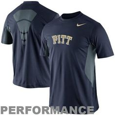 Nike Pittsburgh Panthers Pro Combat Hypercool Fitted Performance T-Shirt - Navy Blue