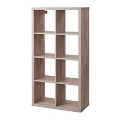 "KALLAX Shelf unit, walnut effect light gray - 30 3/8x57 7/8 "" - IKEA"