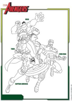 coloring pages marvel avengers - Google Search | colourin ...