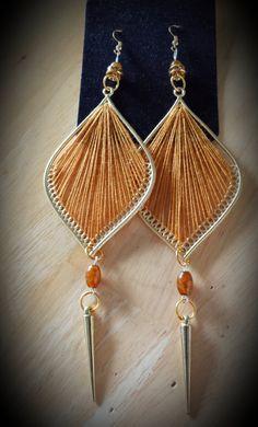 GOLD Thread Earrings by SoSweetSoSassy on Etsy, $16.00