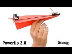 PowerUp 3.0 Smartphone Controlled Paper Airplane Kickstarter - YouTube