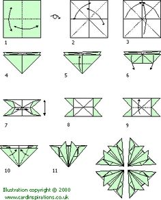 tea+bag+folding+free+patterns | Paper folding chart. Click here for a bigger picture.