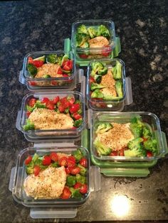 meal prep - good inspiration for weekday meals at work!
