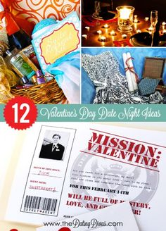 Can't wait to use one of these 12 Valentine's date ideas for my hubby! www.TheDatingDivas.com