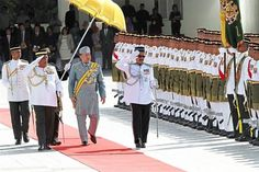 Sultan Muhammad V officiated the first meeting of the fifth term of the 13th Parliament last month.