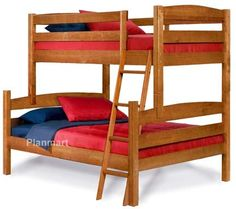 Twin Over Full Bunk Bed Woodworking Plans, Buy It Now