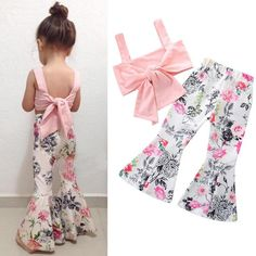 Floral Girls Suit Summer Children Casual Clothing Set Sleeveless Outfit Set Kids Clothes On Sale - NewChic Baby Outfits, Cute Outfits For Kids, Toddler Outfits, Spring Outfits, Toddler Girls Clothes, Children Outfits, Rock Outfits, Children Clothing, Tween Girls