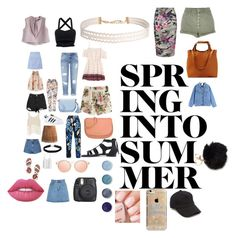 """""""Spring  into summer"""" by charleymeikle on Polyvore featuring Lipsy, MANGO, Glamorous, Phase Eight, Tory Burch, adidas, Sans Souci, Miss Selfridge, Chicwish and Kate Spade"""