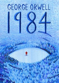 1984 (George Orwell) Book Cover by Haydn Symons, via Behance Book Cover Art, Book Cover Design, Book Design, Book Art, Book Covers, George Orwell, Books To Read Before You Die, Book And Magazine, Movie Poster Art