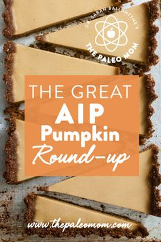 This AIP pumpkin recipe round-up includes sweets, breakfasts, drinks and even some savory dishes to make the most of the pumpkins coming into season now. breakfast drink The Great AIP Pumpkin Round-Up Autoimmun Paleo, Paleo Recipes, Recipe Blogs, Keto, Paleo Autoimmune Protocol, Aip Diet, Paleo Dessert, Paleo Sweets, Sans Gluten