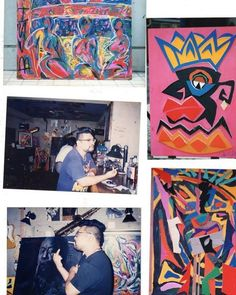 Instagram media by bishi_bashi_boshi - 1995年辺り ニューヨークから帰って個展。 今と全然作風が違ってストレート。(^^) #モダンアート#現代美術#現代アート #modernart #abstract #abstractart #art #artwork #boshi #kumamoto #japan