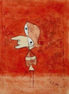 dimshapes: Portrait of Brigitte (Whole Figure) by Paul Klee, 1928