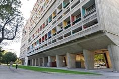 Between 1947 and 1952, Le Corbusier, the Swiss-French architect who revolutionized architecture with his modern vision and use of new materials, created Unité d'Habitation, an apartment complex situated between the Mediterranean and the mountains in Marseilles
