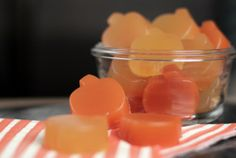 Homemade gummy snacks. Full serving of fruit and veggies.