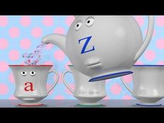 Learn lowercase letters with an Alphabet Teapot and Teapots. A fun animation for kids to watch on YouTube: http://www.youtube.com/user/shows4learning #education #kids #alphabet
