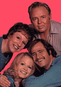 They sure weren't the Nelson's.  Archie, Edith, Mike & Gloria - The Bunkers of Queens, NY.  Norman Lears' All in the Family premiered in 1970.  War, rape, racism, topics nobody thought possible to address on a sitcom where brought into our living rooms each week. Television would never be the same again.