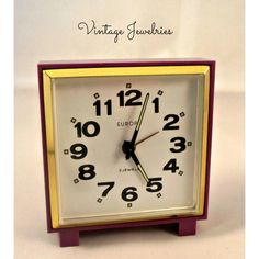 Vintage German Made EUROPA 2 Jewels ALARM CLOCK ($50) ❤ liked on Polyvore featuring home, home decor and clocks