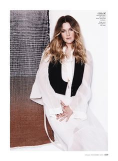 Drew Barrymore by Jan Welters for InStyle US November 2015