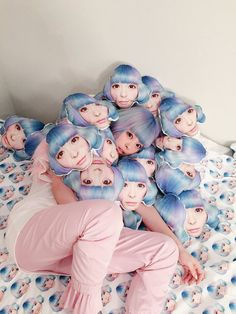 Lol so cool Kyary Pamyu Pamyu, Coral Pantone, Pantone Color, Blue Photography, Art Blue, Living Dolls, All Things Cute, Beautiful Things, Humor Grafico