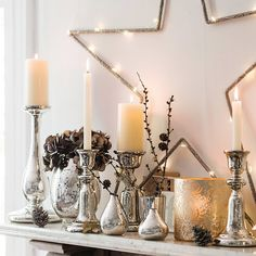 Bell Dinner Candle Holder | The White Company