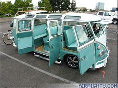 Unbelievably righteous VW Safari Window Van.