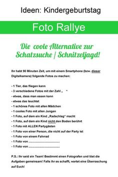 Foto-Rallye- Kindergeburtstag - Pin Tool - New Ideas 4 Kids, Diy For Kids, Cool Kids, Games For Kids, Activities For Kids, Pin Tool, Pokemon Party, Sleepover Party, Spy Party