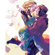 Rogue & Gambit.