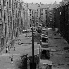 View of tenement backs Glasgow 1971