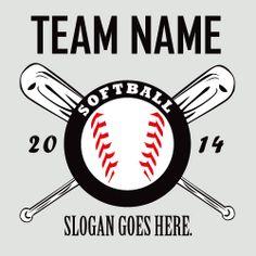 Softball Vector Tshirt Template clipart eps