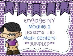 I have bundled the lessons from Engage NY Module 2 - 2nd grade. Please look at preview to see what is included. NOTE: I did not include Lesson 6 and 9 because they are FREE in my store.  Please download them from my store.Thank so much :)