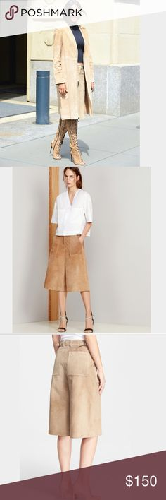 """Theory """"Gera"""" suede gaucho pants Authentic Theory  Gera suede Gaucher's pants in the color honey. Brand new with tags attached, no trades, no pp Theory Pants"""