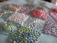 Fabric Inchies   Embroidery inchies by K-Lee