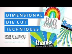(2982) Dimensional Die Cut Techniques - YouTube Die Cut Cards, Pop Up Cards, Jennifer Mcguire Ink, Hero Arts Cards, Thanks Card, Interactive Cards, Card Tutorials, Video Tutorials, Card Making Techniques