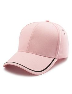 86284559699 Plain Line Embroidery Baseball Hat (Pink)