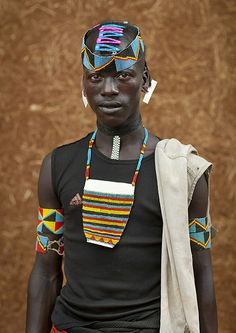 Tsemay tribe warrior, Ethiopia by Eric Lafforgue