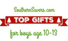 If you want to find gifts for boys age 10-13, here are the top 10 gifts for this year.