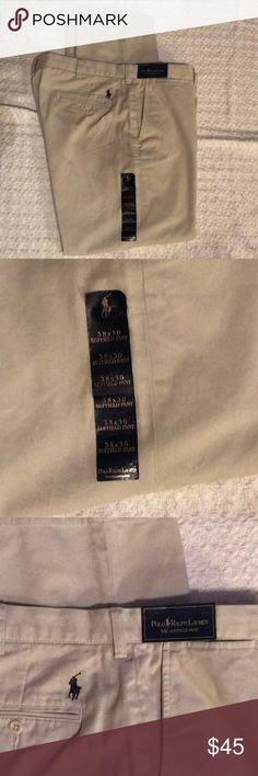 POLO- Ralph Lauren- The Suffield Pants- Khaki POLO- Ralph Lauren- The Suffield Pants- Khaki / Waist 38- Inseam 30 Polo by Ralph Lauren Pants Chinos & Khakis