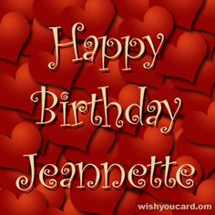 Happy Birthday, Jeannette!