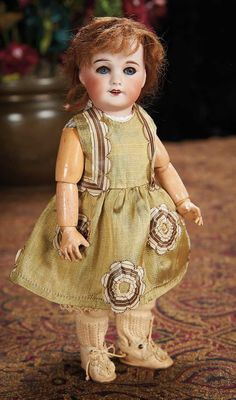 The Lifelong Collection of Berta Leon Hackney: 208 French Bisque Doll in the Bleuette Genre, with Original Bleuette Costume
