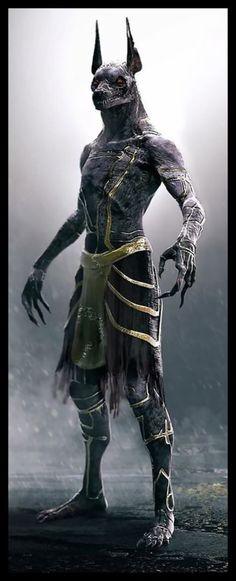 Konzept von Anubis im Film Gods of Egypt - Tattoo Pics Anubis Tattoo, Egyptian Costume, Egyptian Art, Egyptian Makeup, Egyptian Anubis, Dark Fantasy Art, Dark Art, Gods Tattoo, Fantasy Creatures