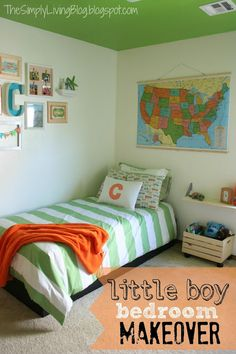 Some very cool kid room deocr ideas here...I wish we had an Ikea near by :-( Simply Living : Little Boy Bedroom Makeover