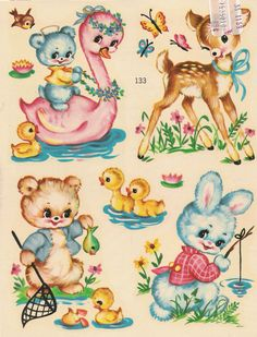 Seem to recall Mom and Dad having a boxful of decals similar to these. Have no idea where they came from.