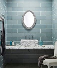 Bathroom wall tiles at Topps Tiles. Loft Bathroom, Upstairs Bathrooms, Family Bathroom, Small Bathroom, Bathroom Ideas, Bathroom Plans, Bathroom Designs, Master Bathroom, Spa Bathrooms