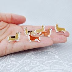 Corgi Pembroke Earrings Dog Lover Gift Ceramic Stud  Jewelry by DORCAceramics on Etsy https://www.etsy.com/listing/218164031/corgi-pembroke-earrings-dog-lover-gift