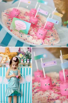 Under the sea bday party idea! :) Marshmallow Octopus. So cute and easy to make.