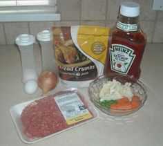Meatloaf with hidden pureed veggies. Regular at our house. Sometimes I made them into meatballs instead. Snack Recipes, Healthy Recipes, Snacks, Healthy Food, Cornflake Recipes, Frozen Peas, Ketchup, Meatloaf, Food To Make