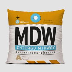 Chicago Midway Travel Pillow